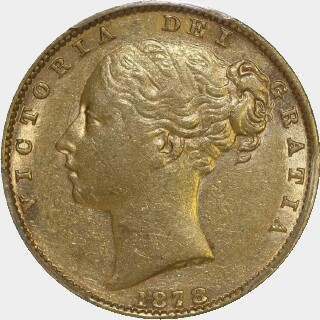 1878-S  Full Sovereign obverse