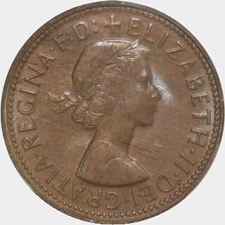 1963-Y  Half Penny obverse