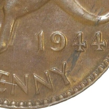 Dot mintmark after Y on 1944-Y Penny