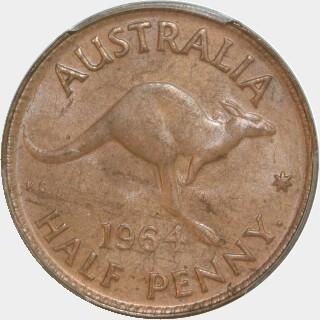 1964-Y  Half Penny reverse