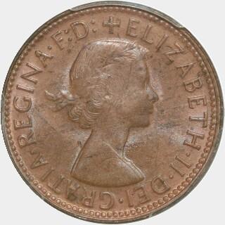 1964-Y  Half Penny obverse