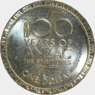 2014-M  One Dollar reverse