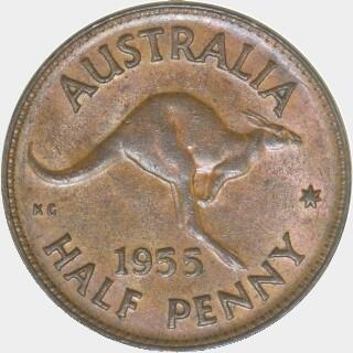 1955  Half Penny reverse