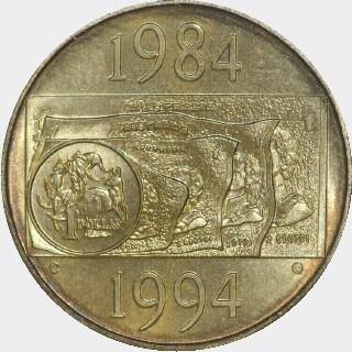 1994-C  One Dollar reverse