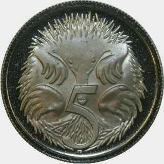 1969 Proof Five Cent reverse