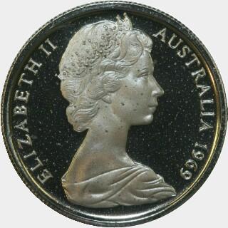 1969 Proof Five Cent obverse