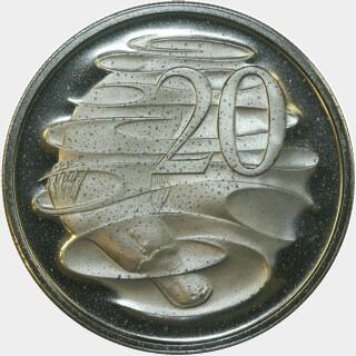 1969 Proof Twenty Cent reverse