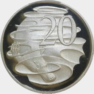 2010 Proof Twenty Cent reverse