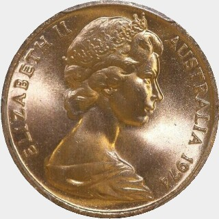 1974  One Cent obverse
