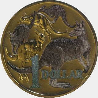 2014 Coloured One Dollar reverse