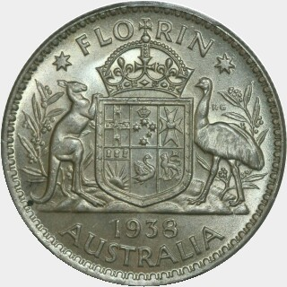 1938  Florin reverse