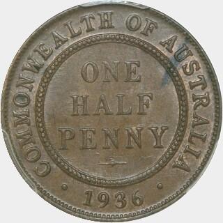 1936  Half Penny reverse