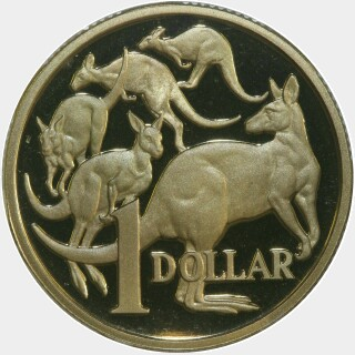 1998 Proof One Dollar reverse