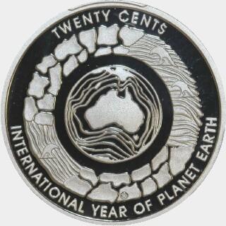 2008 Proof Twenty Cent reverse