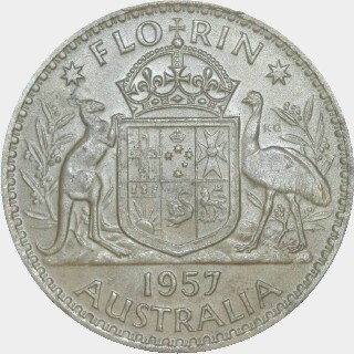 1957  Florin reverse