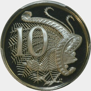 1973 Proof Ten Cent reverse