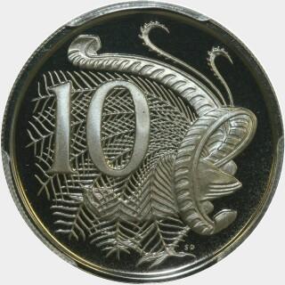 1974 Proof Ten Cent reverse