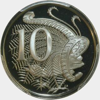 1972 Proof Ten Cent reverse