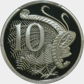 1996 Proof Ten Cent reverse