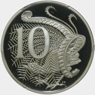1998 Proof Ten Cent reverse