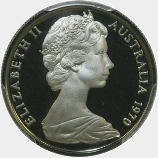 1970 Proof Five Cent obverse