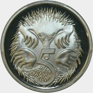 1996 Proof Five Cent reverse