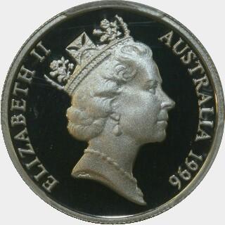 1996 Proof Five Cent obverse
