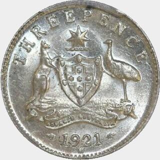 1921-M  Threepence reverse