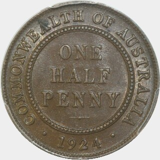 1924  Half Penny reverse