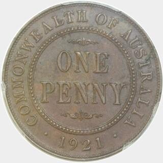 1921  Penny reverse