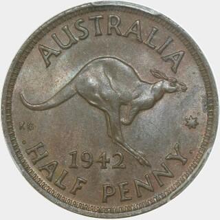 1942-I  Half Penny reverse