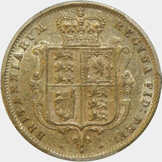 1883-S Crenulated Reverse Low Relief Half Sovereign reverse