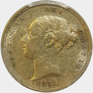 1883-S Crenulated Reverse Low Relief Half Sovereign obverse