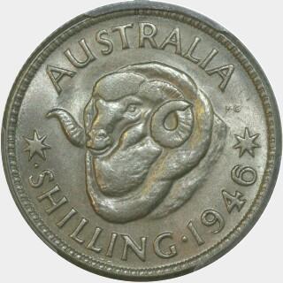 1946-P  Shilling reverse