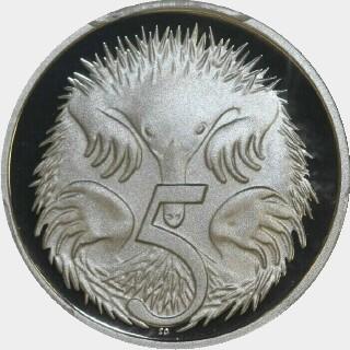 2008 Proof Five Cent reverse