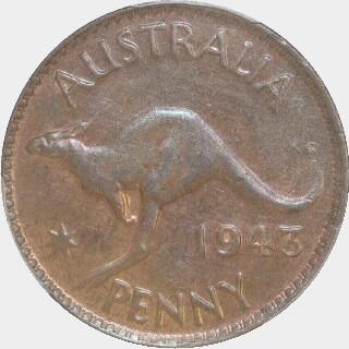 1943  Penny reverse