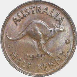 1945-Y  Half Penny reverse