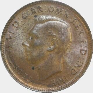 1945-Y  Half Penny obverse
