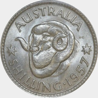 1957  Shilling reverse