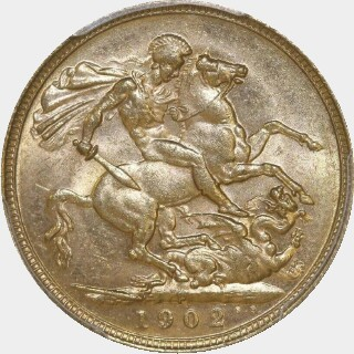1902-P  Full Sovereign reverse