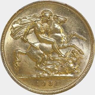 1931-M  Full Sovereign reverse