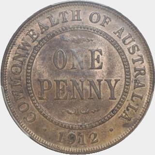 1912-H  Penny reverse