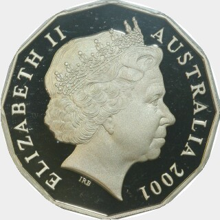 2001 Coloured Proof Fifty Cent obverse