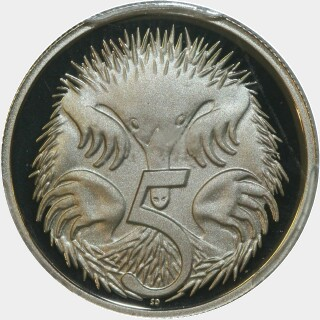 2001 Proof Five Cent reverse