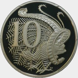 2001 Proof Ten Cent reverse