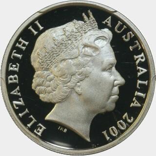 2001 Proof Ten Cent obverse