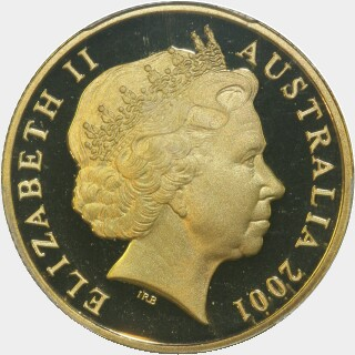 2001 Coloured Proof One Dollar obverse