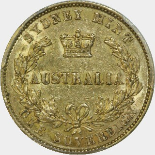 1857  Full Sovereign reverse