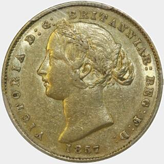 1857  Full Sovereign obverse
