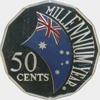 2000 Proof Fifty Cent reverse